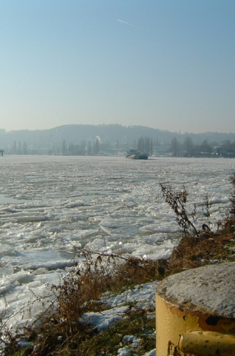 Ice on the River Moselle
